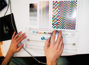 カラープルーフの測定
